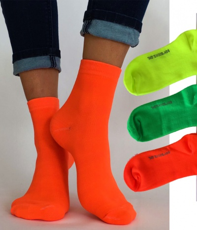chaussettes fluo
