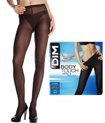 2 Collants DIM Body Touch Opaque marron