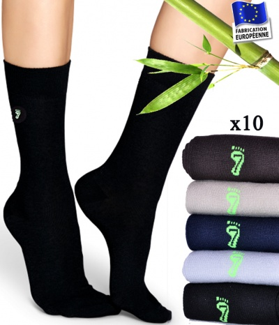 Chaussettes mode femme bambou