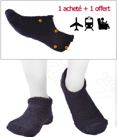 Chaussons Anti-dérapant + 1 Offert