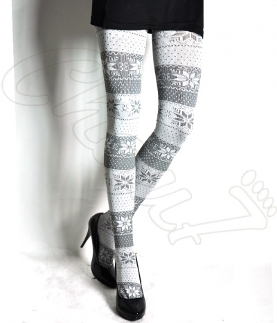 2 Collants Motifs Norvegiens