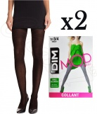 2 Collants MOD de DIM opaque Coton