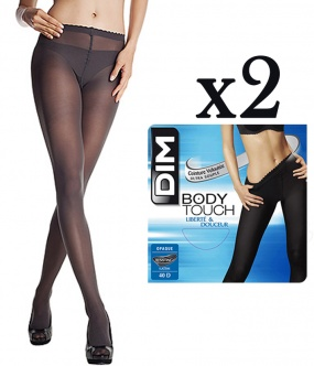 2 Collants DIM Body Touch Opaque