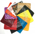 Lot 12 Bandanas Coton Assortis